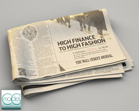 wall street newspaper 3d c4d