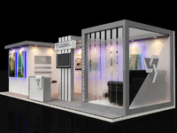 3d model exhibition stall design