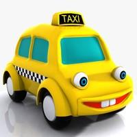 3d taxi character model
