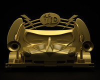 free concept organic golden car design 3d model