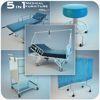 medical furniture 3d max