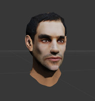 ready male head udk 3d model