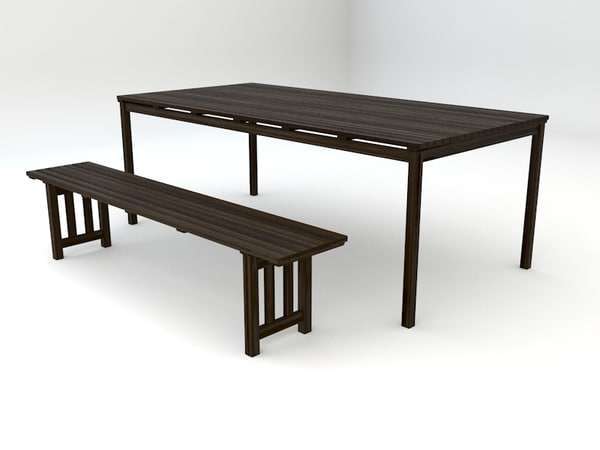 ikea angso series outdoor table 3d model