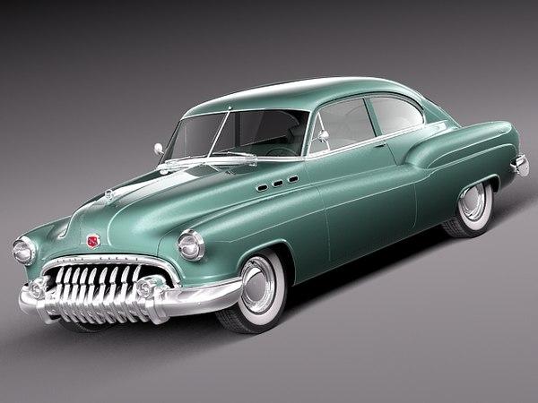 3d Classic Buick 1950 Sedanette Model