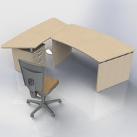 office table 3d max