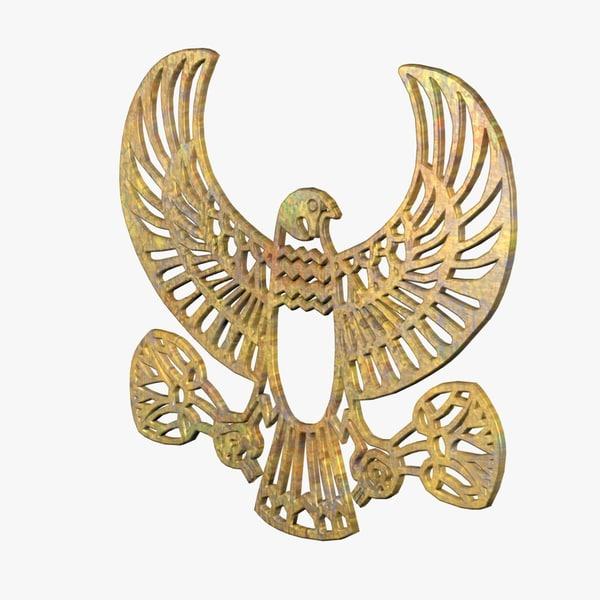 egyptian eagle fg 3d obj