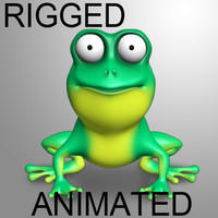 3d frog character physique