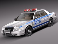 Ford Crown Victoria Police Car NYPD 1998-2011