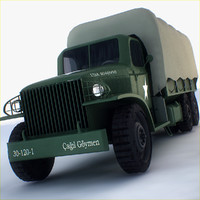 gai-353 military transportation 3d model