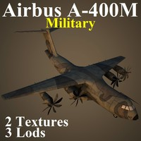 3d model airbus a400m mil