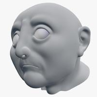 Cartoon Old Man Head