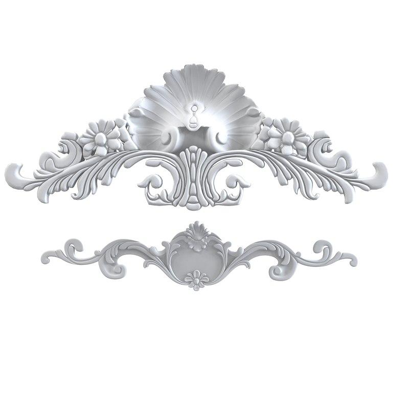 Peterhof C3 C28 Cartouche classic carved ceiling cornice baroque classical petergof c 3 280001.jpg
