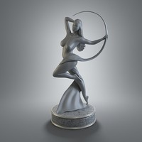 female figurine art 3d obj