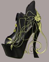 3d model shoe heels footwear