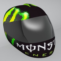 shoei motorbike helmet 3d model