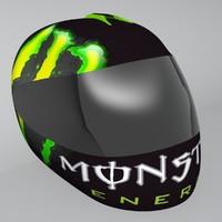 shoei motorbike helmet 3d model