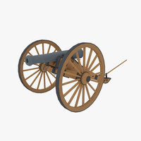 confederate 6 rockbridge artillery 3d model