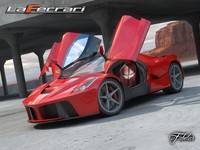 3d ferrari laferrari sports 2 model