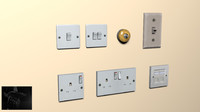 Light switch and plug socket (package)