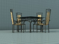3ds wrought iron garden furniture
