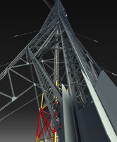 max ultrahigh voltage transmission tower