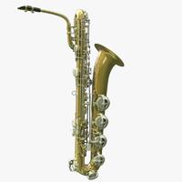 3dsmax modeled saxophone