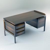 3d model vintage desk