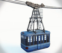 3d model of cableway cable