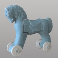 3ds max horse toy