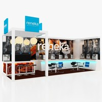 exhibition stall design booth 3d max