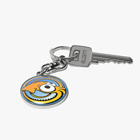 Keychain With TurboSquid Logo And Key