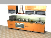 variations kitchens 3d max