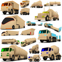 wooden toy truck 3d max