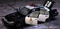 Ford Crown Victoria Police Car (2003) - Fbx