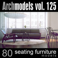 archmodels vol 125 chairs 3d c4d