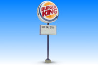 burger king sign 3d model