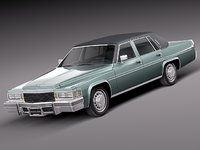 3d classic antique sedan luxury model