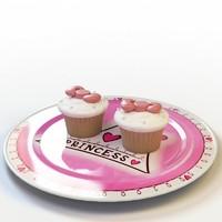 3d cupcake 012 model