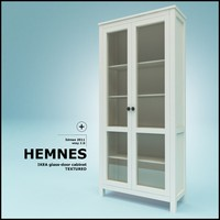 HEMNES glass door cabinet