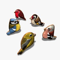 felt ornamental birds 3d model