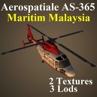 aerospatiale mas helicopter 3d max