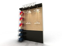 3d store display shelves