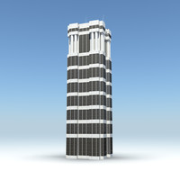 3d skyscraper 17 day night