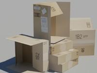 3d max cardboard box