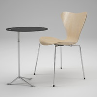 Swivel Chair Series 7 and  table Little Friend