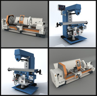 3d horizontal milling machine model