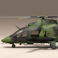 3d c4d aw109 helicopter