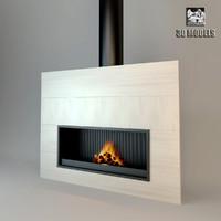 3d fireplace modern