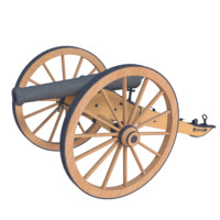 civil war 12 pounder 3d model