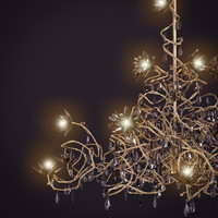 3d jewel chandelier hl15 black